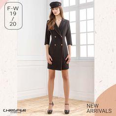 Φόρεμα σε στυλ μαντό με σταυροκούμπι. Κομψότατη εμφάνιση που θα τραβήξει τα βλέμματα ! Κωδικός: 52336 Dresses For Work, Fashion, Moda, Fashion Styles, Fashion Illustrations