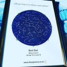 """Fathers day star map⭐"" Fathers Day, Chart, Map, Night, Artwork, Etsy, Work Of Art, Maps, Father's Day"