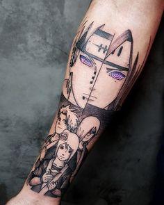 Artista: @rizztattoo - Porto Alegre.  Naruto  Nagato Yahiko e Konan.   Se você curte o tema aí vai uma dica: No perfil do @rizztattoo tem artes fantásticas de diversos personagens do mundo geek.  Um trabalho mais lindo que o outro!  Contato:  rizz.fabricio@gmail.com One Piece Tattoos, Cool Chest Tattoos, Pieces Tattoo, Body Art Tattoos, Small Tattoos, Tattoos For Guys, Cool Tattoos, Tatoos, Naruto Tattoo