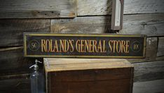 Personalized General Store Sign  Rustic Hand by TheLiztonSignShop