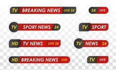 Tv news bar. sport news. television broa... | Premium Vector #Freepik #vector Web Banner, Banner Template, Live Television, Paint Splash, Social Media Banner, Tv, Banner Design, Sports News, Paint Splats