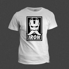 Iron Man Moustache Tshirt AKA IronStashe | Funny Tshirt | Shirt tee cool tshirt funny marvel iron man ironman moustache ironstashe hipster by BrutalVisual