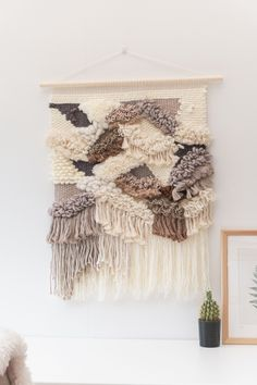 Hanging Forest Wall hanging Roving Wool, Woven Wall Hanging, Tapestry Weaving, Weaving Techniques, Muted Colors, Shag Rug, Hand Weaving, Wall Decor, Texture