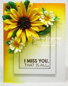 Details are on my blog.  (Susan's Garden Sunflower and Daisies; MFT; My Favorites Things; #mftstamps)
