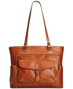 Luxe lived-in leather and handcrafted stitching add artisanal charm to this classic carryall from Patricia Nash. Outfitted with plenty of pockets for impeccable organization, it's the ideal on- or off