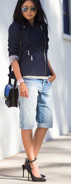 Bermuda Jeans... O retorno? - Lalá Noleto