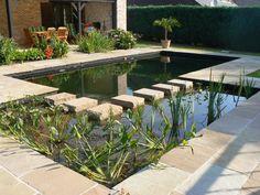 Swimming pond in sandstone