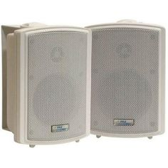 3.5'' Indoor/Outdoor Waterproof Speakers w/15 Watt 70V Transformer