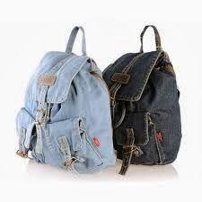 Feito por Mim! O artesanato para iniciantes!: Mochila feita de Tecido Denim Backpack, Denim Bag, Fashion Backpack, Denim Jeans, School Bags For Girls, Girls Bags, Mochila Jeans, Boho Bags, Diy Clothes