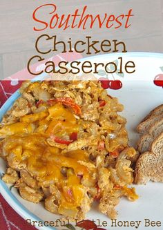 This Southwest Chicken Casserole is fast, frugal and freezer friendly. Your family and your wallet will love it!