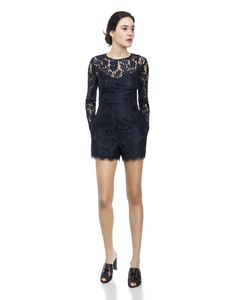 3498dd63c3a Cynthia Rowley~Midnight Blue All Over Lace Romper~12~ 298  SOLD OUT
