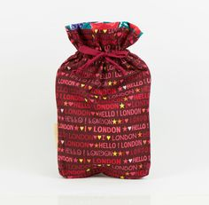 London cotton drawstring bag. Ideal Christmas by MoonlightCompany