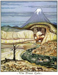 As well as an author, poet, professor and linguist J.R.R. Tolkien was an accomplished artist.