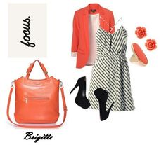 Geanta piele naturala BRIGITTE ORANGE Polyvore, Image, Fashion, Moda, Fashion Styles, Fashion Illustrations