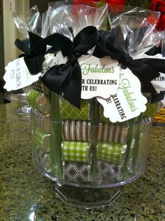 Favors at a 50th Birthday #50thbirthday #partyfavors