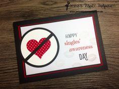 jpp - Valentinstag für Singles – Nehmt's mit Humor / Anti Valentine's Card / Stampin' Up! Berlin / Herzblatt / Mit Gruß und Kuss  www.janinaspaperpotpourri.de