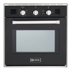 Verona VEBIG24NE 24 Single Gas Wall Oven with 20 cu ft Capacity Electronic Ignition EZ Clean Porcelain Interior Infrared Broiler 2 Heavy Duty Racks Chrome Handle and Bell Timer *** Click for Special Deals #WallOven