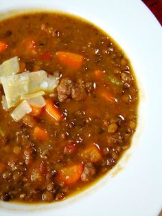 Sausage and Lentil Soup also on the link is a recipe for chicken posole soup