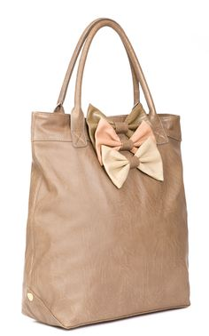 TRIPLE BOW DECORATED SHOPPER BAG
