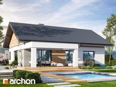 Projekt domu Dom w błękitkach - ARCHON+ Bud, Outdoor Decor, Home Decor, Homemade Home Decor, Interior Design, Home Interiors, Decoration Home, Gem, Human Eye