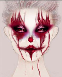 Makeup Drawing, Face Paint Makeup, Eye Makeup Art, Clown Makeup, Edgy Makeup, Dark Makeup, Crazy Makeup, Makeup Face Charts, Eye Makeup Designs