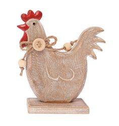 Country Hen Standing Decoration Set of 2 | Kitchen | Sass & Belle