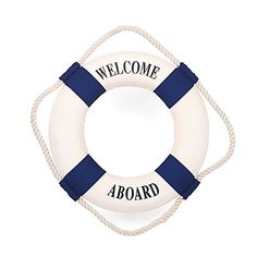 """Amazon.com: Handcrafted Nautical Decor Decorative Life Ring New Lifering, 6"""", Blue: Toys & Games"""
