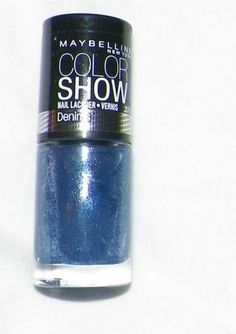 gray / blue finger nail polish maybelline brand  new and fresh glossy #Maybelline