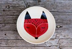 Ceramic bowl fox - Marinski Handmades