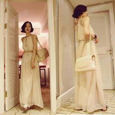 Women Halter Open Back Empire Waist BOHO Beach Maxi Long Chiffon Dress Hot Sale on eBay!