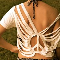 CUSTOM Boho Cut Top - Swim Suit Cover. seems like it could possibly be easy to make