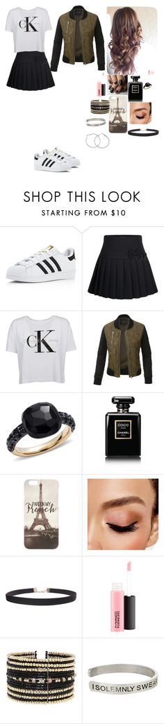 """""""Untitled #47"""" by pinky2005 ❤ liked on Polyvore featuring adidas, Calvin Klein, LE3NO, Pomellato, Chanel, Avon, Humble Chic, MAC Cosmetics, Eloquii and Warner Bros."""