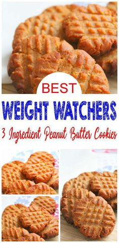 Weight Watchers 3 Ingredient Peanut Butter Cookies – BEST WW Recipe – Dessert – Treat – Snack with Smart Points - Weight Watchers Snacks! EASY Weight Watchers with these yummy 3 ingredient peanut butter cookies. Weight Watchers Desserts, Weight Watcher Cookies, Ww Desserts, Dessert Recipes, Weight Watchers Waffles Recipe, Weight Watchers Cupcakes, Dinner Recipes, Party Desserts, Snacks To Make