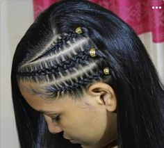 Ideas For Hair Long Peinados Girl Hairstyles Mixed Girl Hairstyles, Baddie Hairstyles, Teen Hairstyles, Braided Hairstyles, Curly Hair Styles, Natural Hair Styles, Cool Braids, Pinterest Hair, Hair Color Dark