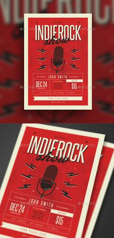 Rock And Roll All Night Music Flyer  Music Flyer Flyer Template