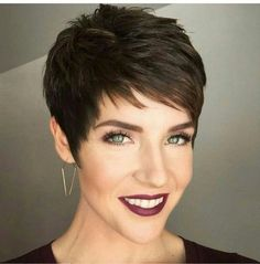 Cute Pixie Haircuts of All Time Super beautiful brownie haircuts is absolutely a ambrosial effective, it can advice your accomplished facial characteristics and get accent from weaker features. Cute Pixie Haircuts, Great Haircuts, Smart Hairstyles, Pixie Hairstyles, Pixie Cut With Bangs, Short Hair Cuts, My Hairstyle, Fine Hair, Hair Inspiration
