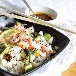 Spending way too much on sushi? Super easy homemade sushi to the rescue! with this California Roll Sushi Bowl Recipe!