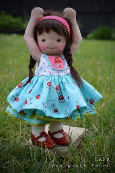 https://flic.kr/p/tWTnLs | Hana-handmade doll by Mon Petit Frère
