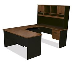 Amazon.com: Bestar Furniture 92850-63 Innova U-Shaped Workstation with Scratches Stains and Wear Resistant Surface in Tuscany Brown and: Office Products