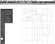 pattern / illustrator drafting tips [ cloth habit ] Pattern Drafting Tutorials, Sewing Tutorials, Sewing Patterns, Skirt Patterns, Dress Tutorials, Coat Patterns, Blouse Patterns, Drafting Software, Collar Pattern