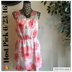 HP 6/23/16 NWT Gap Floral Dress NWT - Size XXL Shear Top - Bought As A Juniors Dress (Tag From Gap Kids - Size 14-16) Fits Junior Size Small GAP Dresses Midi