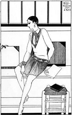 Japanese Illustratior Fukitani Koji (1898-1979) (蕗谷虹児), 1929, Paris.