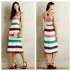 Corey Lynn Calter Sketchbook Midi Dress Rayon knit. Side pockets. Pullover styling. Anthropologie Dresses Midi