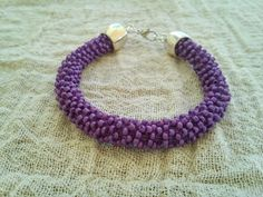 Purple matt beaded bracelet Beaded rope bracelet by GIASEMAKI Beaded Bracelets, Jewels, Purple, Trending Outfits, Unique Jewelry, Handmade Gifts, Etsy, Vintage, Fashion
