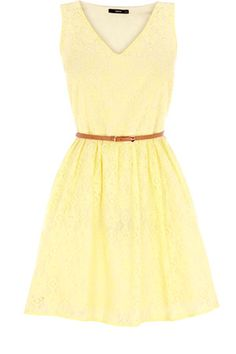 Sunshine Yellow Lace from Oasis.  This is my ideal dress.