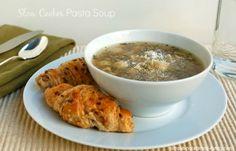 Crock Pot Pasta Soup | Weight Watchers Friendly Recipes #CrockPot #WeightWatchers