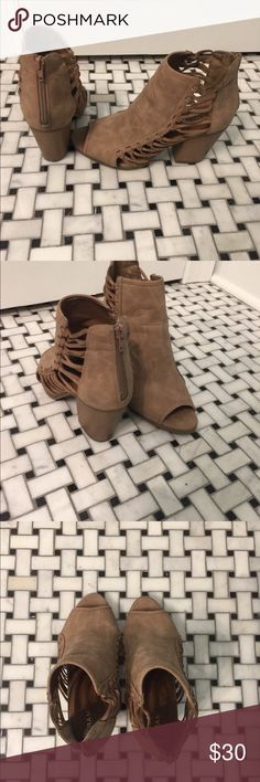 Rampage Open Toe Zipper Back Booties Size 8.5 Rampage Open Toe Zipper Back Booties Size 8.5. Excellent Condition. Rampage Shoes Ankle Boots & Booties