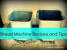 A resource page for bread machine recipes and tips.
