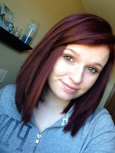 Short, red/brown hair