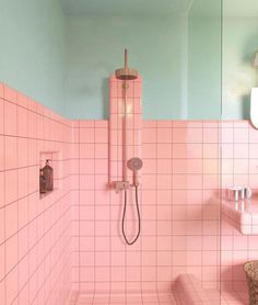 8 Shower Niches Fueling Our Love for the Luxe Detail Is a shower niche the height of bathroom luxury? These eight spaces say yes—here are the design tips we're taking from them. Retro Bathrooms, Ensuite Bathrooms, Small Bathroom, Bathroom Niche, Colorful Bathroom, Modern Bathroom, Boho Bathroom, Dream Bathrooms, Pink Bathroom Vintage